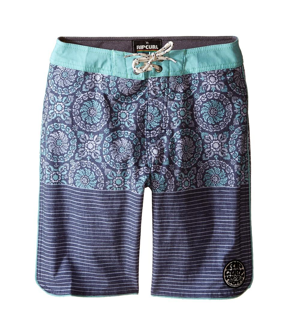 Rip Curl Kids - System Boardshorts (Big Kids) (Blue/Grey) Boy's Swimwear