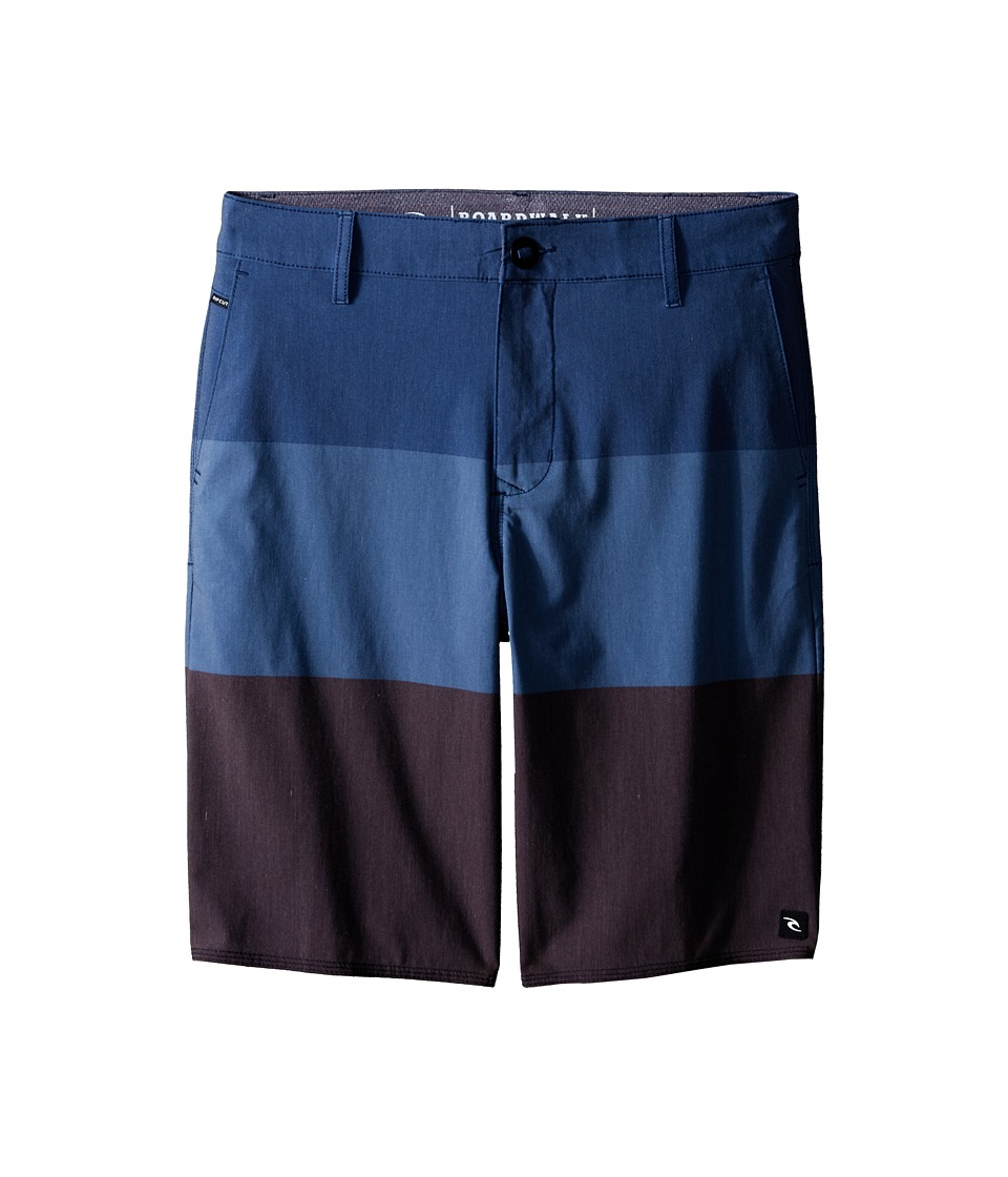 Rip Curl Kids - Trilogy Boardwalk Shorts (Big Kids) (Blue) Boy's Shorts