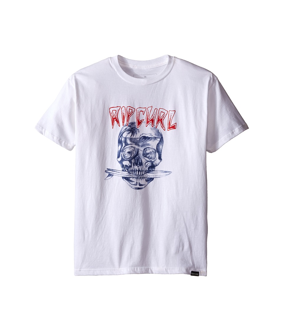 Rip Curl Kids - El Skullio Premium Tee (Big Kids) (White) Boy's T Shirt
