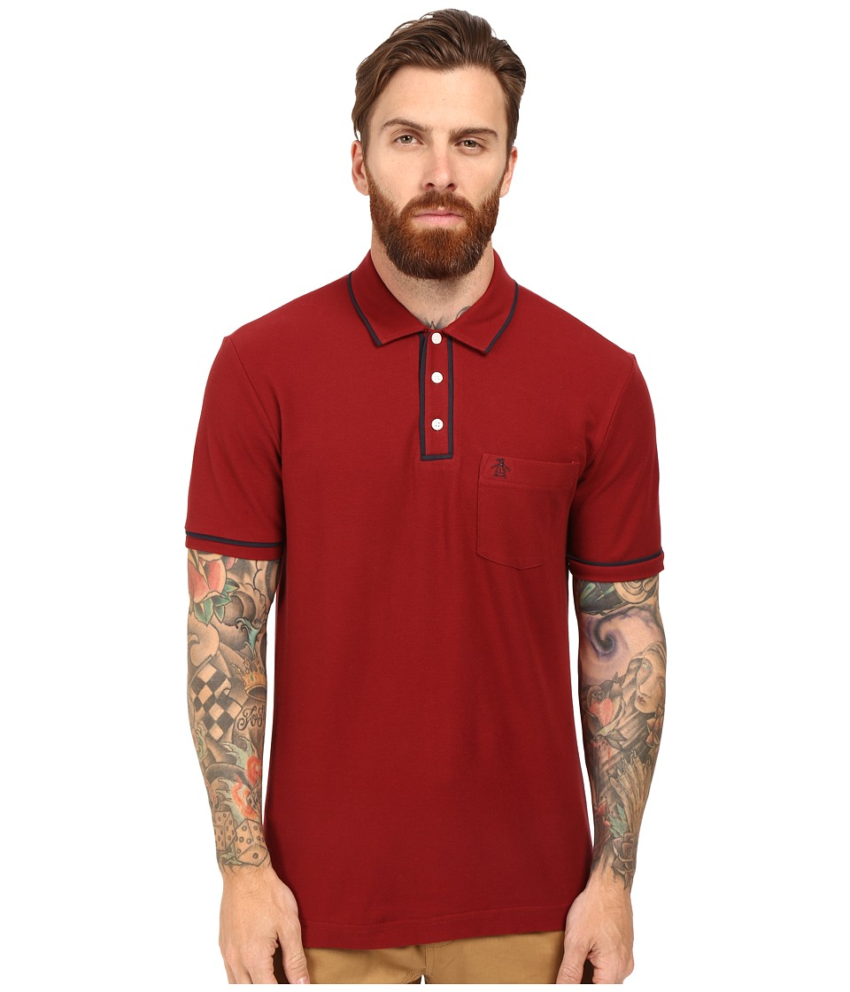Original Penguin - Earl Polo (Pomegranate) Men's Short Sleeve Pullover