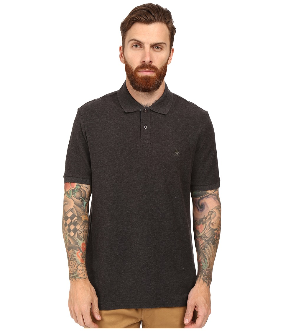 Original Penguin - Daddy Polo (Dark Charcoal Heather) Men's Short Sleeve Pullover