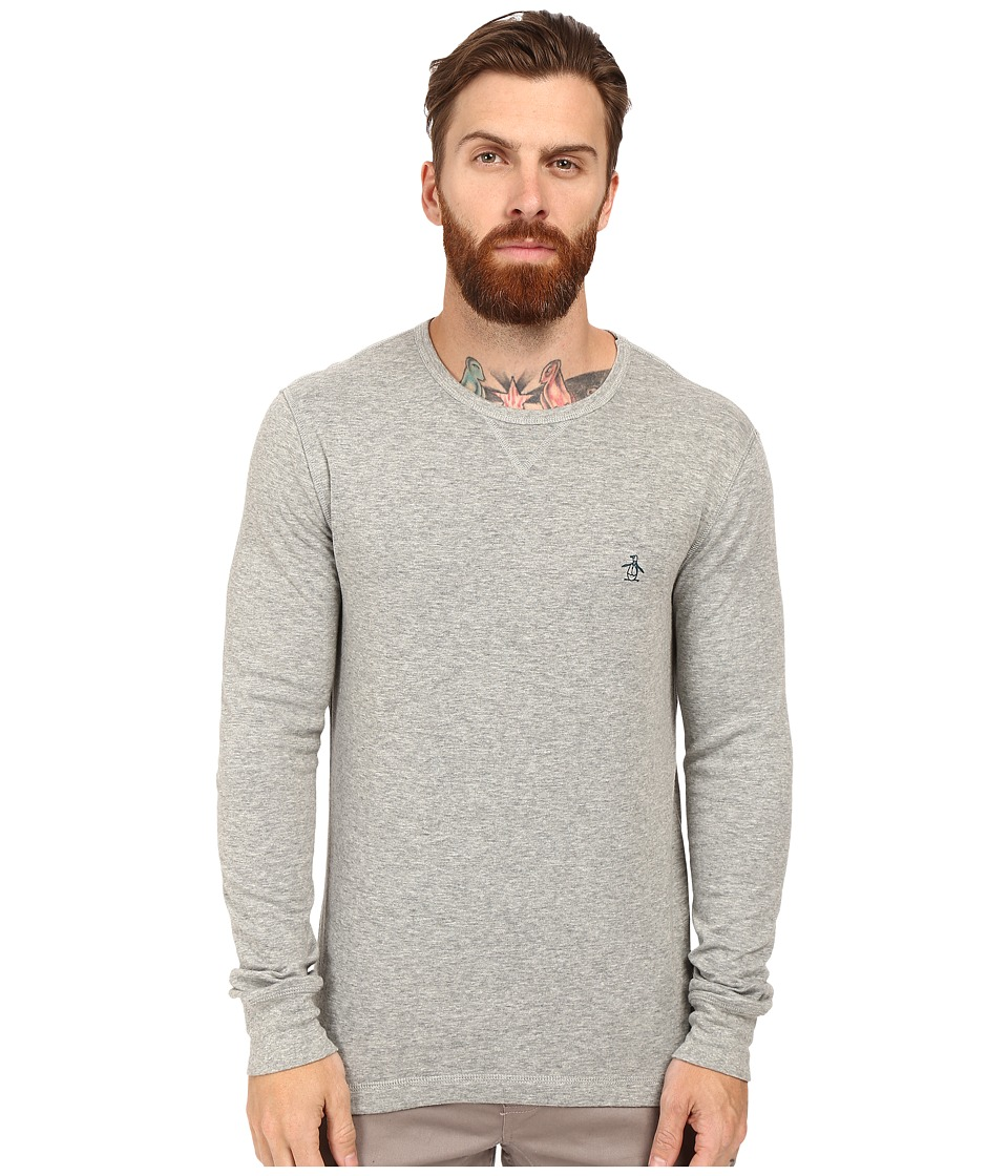 Original Penguin - Long Sleeve Reversible Crew (Griffin) Men's Long Sleeve Pullover