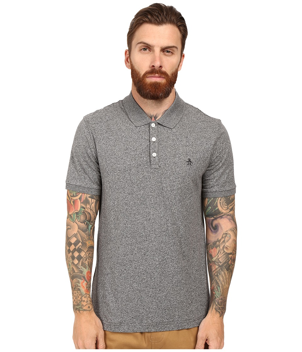 Original Penguin - Jaspe Polo (True Black) Men's Short Sleeve Pullover