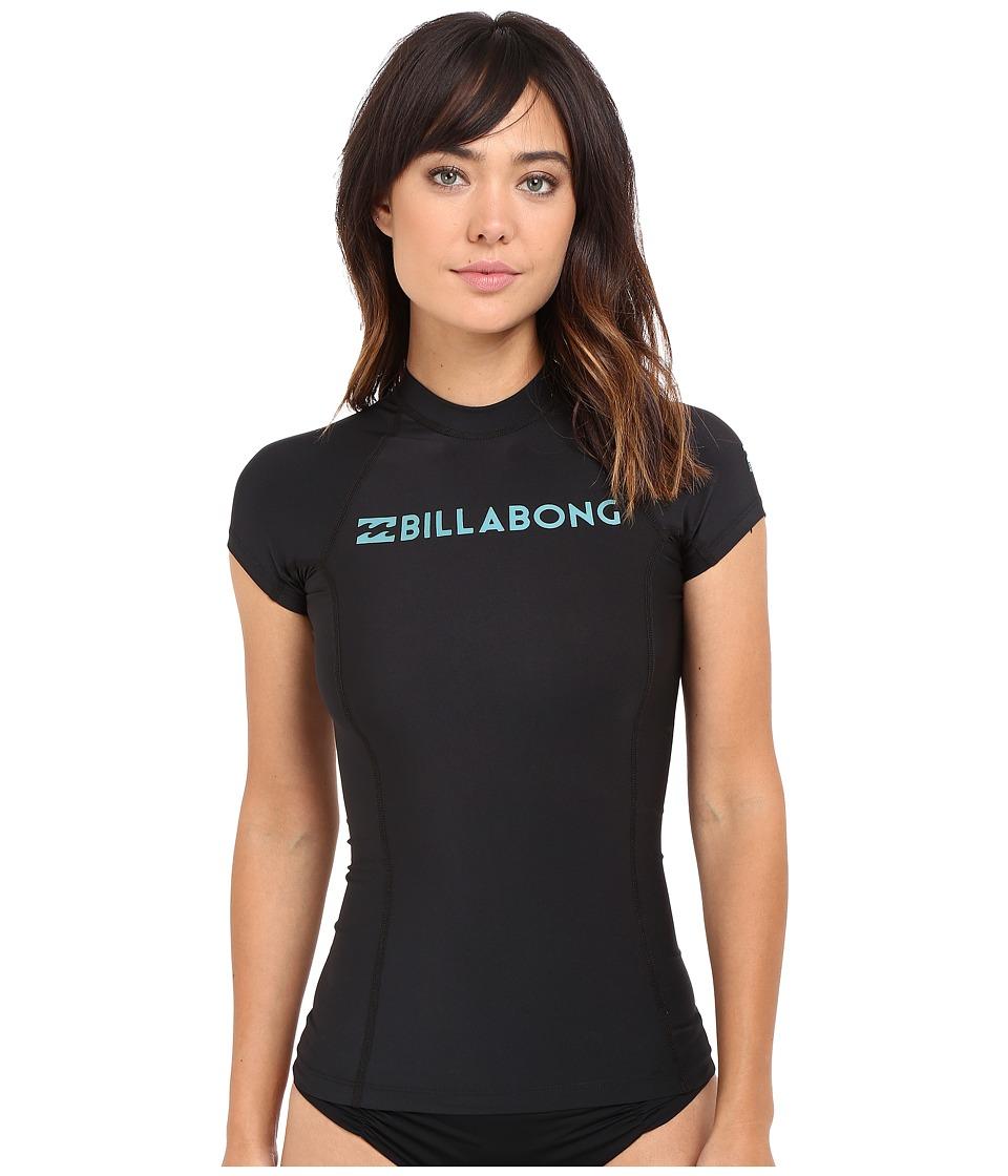 Billabong - Surf Dayz Short Sleeve Rashguard (Black) Women's Swimwear