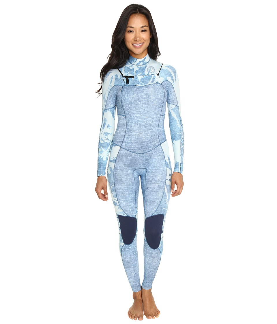Billabong - 403 Salty Dayz Chest Zip Long John Wetsuit (Indigo) Women's Wetsuits One Piece