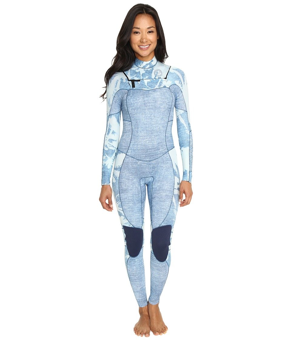 Billabong - 302 Salty Dayz Chest Zip Long John Wetsuit (Indigo) Women's Wetsuits One Piece