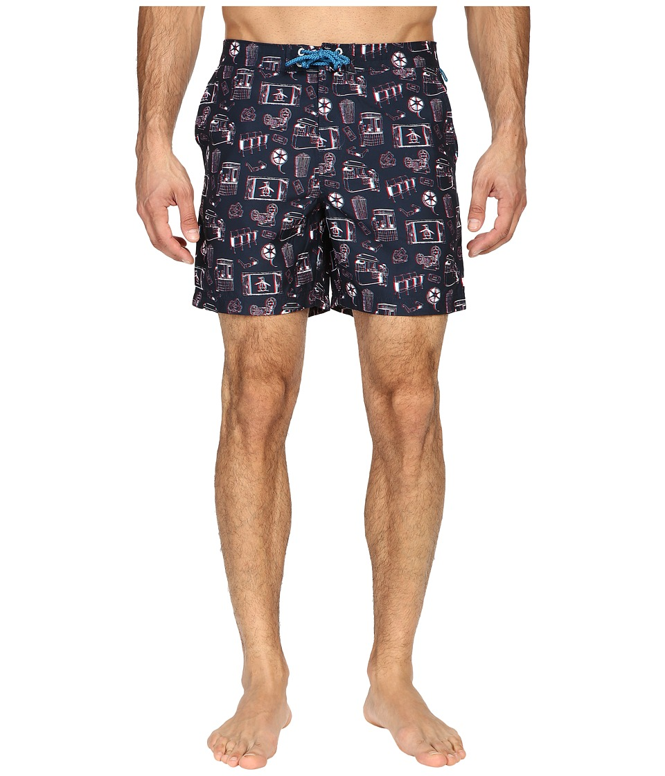 Original Penguin 3D Print Fixed Volley (Dark Sapphire) Men