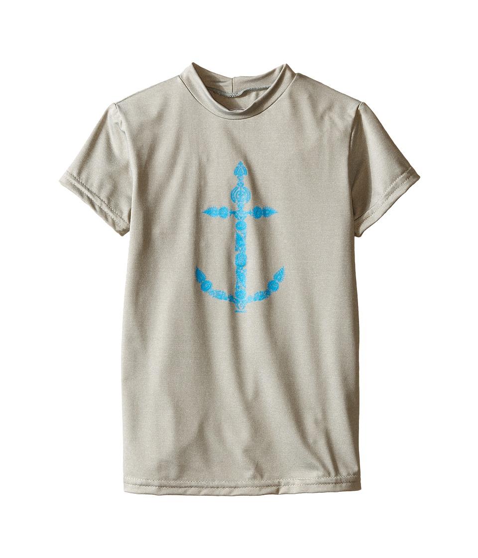 O'Neill Kids - 24-7 Hybrid Surf Tee (Little Kids/Big Kids) (Lunar) Girl's Swimwear