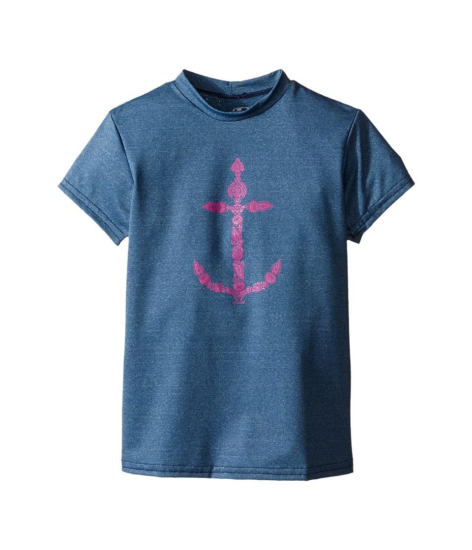 O'Neill Kids - 24-7 Hybrid Surf Tee (Little Kids/Big Kids) (Deep Teal) Girl's Swimwear