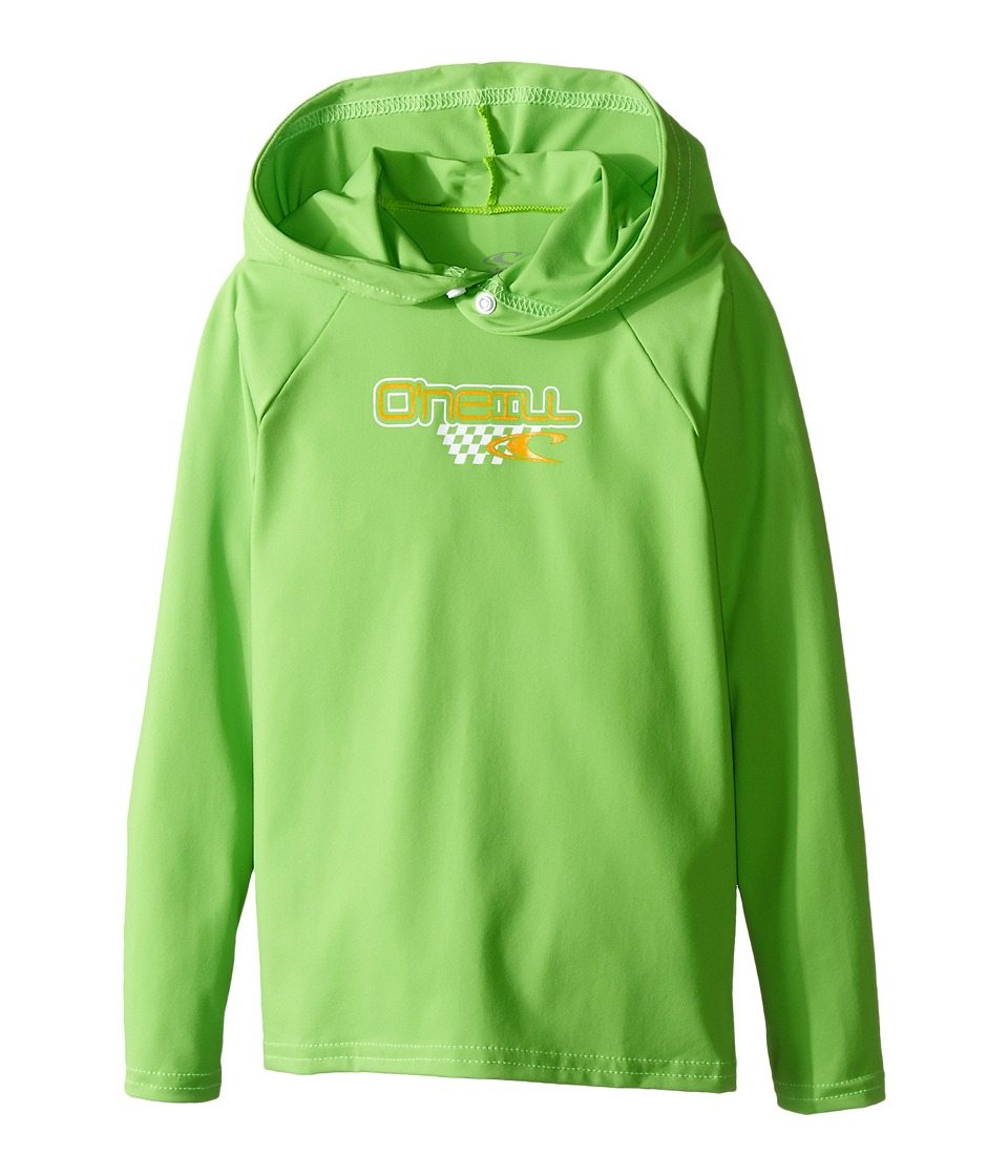 O'Neill Kids - Skins Hoodie (Infant/Toddler/Little Kids) (Day Glow Green) Boy's Swimwear