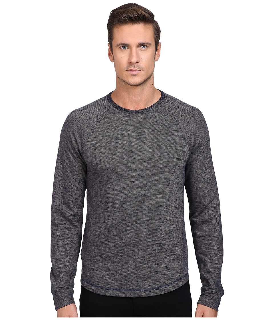 Original Penguin - Double Dye Fashion Bada (Dark Sapphire) Men's Long Sleeve Pullover
