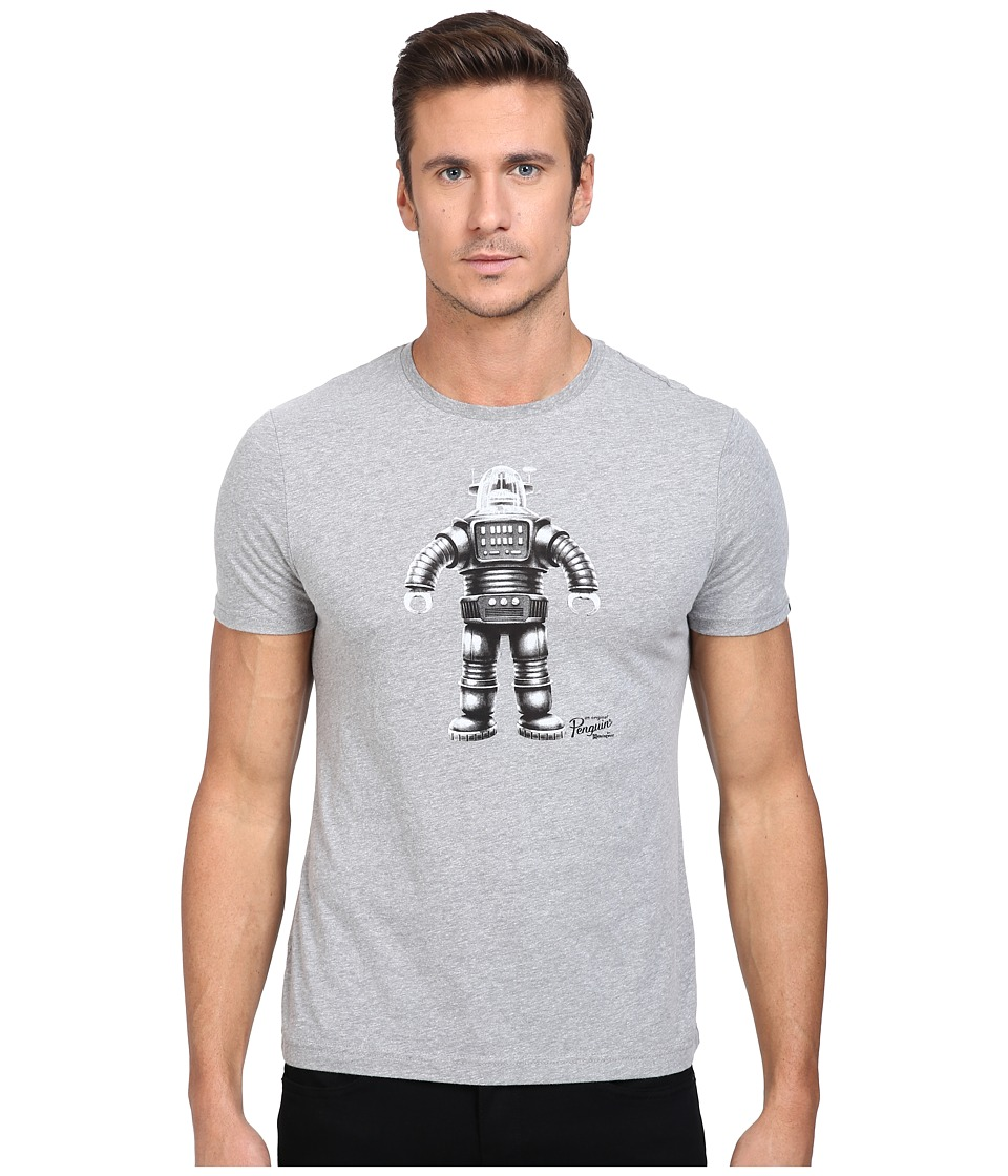 Original Penguin - Sci-Fi Robot Tee (Athletic Grey Heather) Men's T Shirt