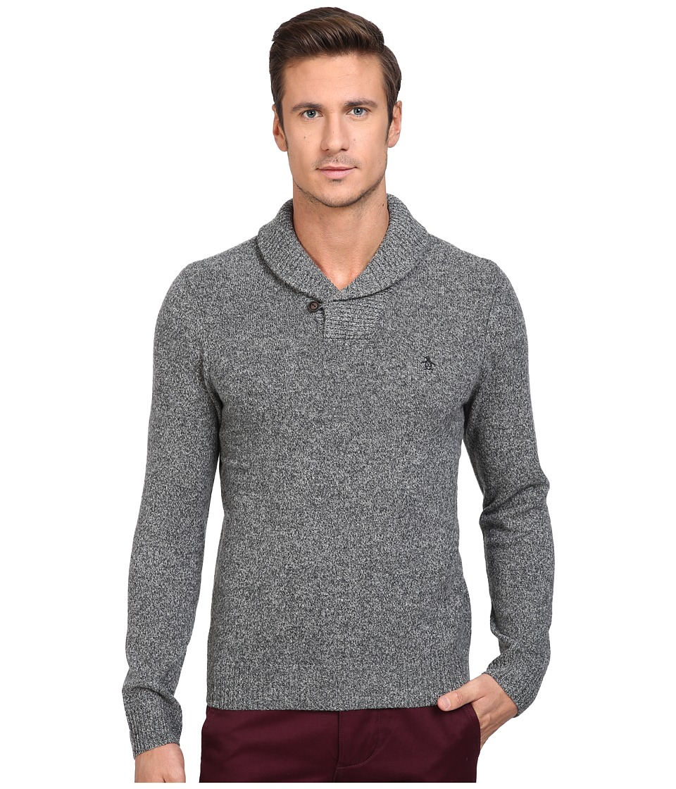 Original Penguin - Pullover Shawl Neck Sweater (Dark Shadow) Men's Sweater
