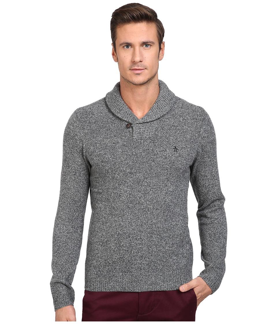 Original Penguin - Pullover Shawl Neck Sweater (Dark Shadow) Men's Sweater