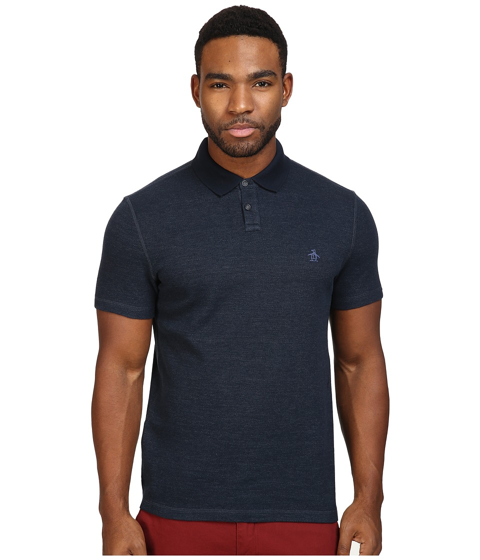 Original Penguin - Short Sleeve Reversible Polo (Dark Sapphire) Men's Short Sleeve Pullover