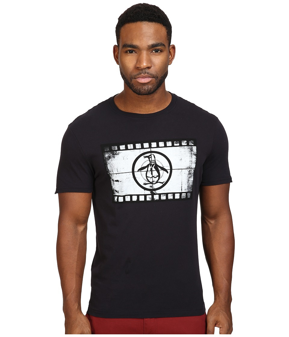 Original Penguin - Movie Reel Pete (True Black) Men's T Shirt