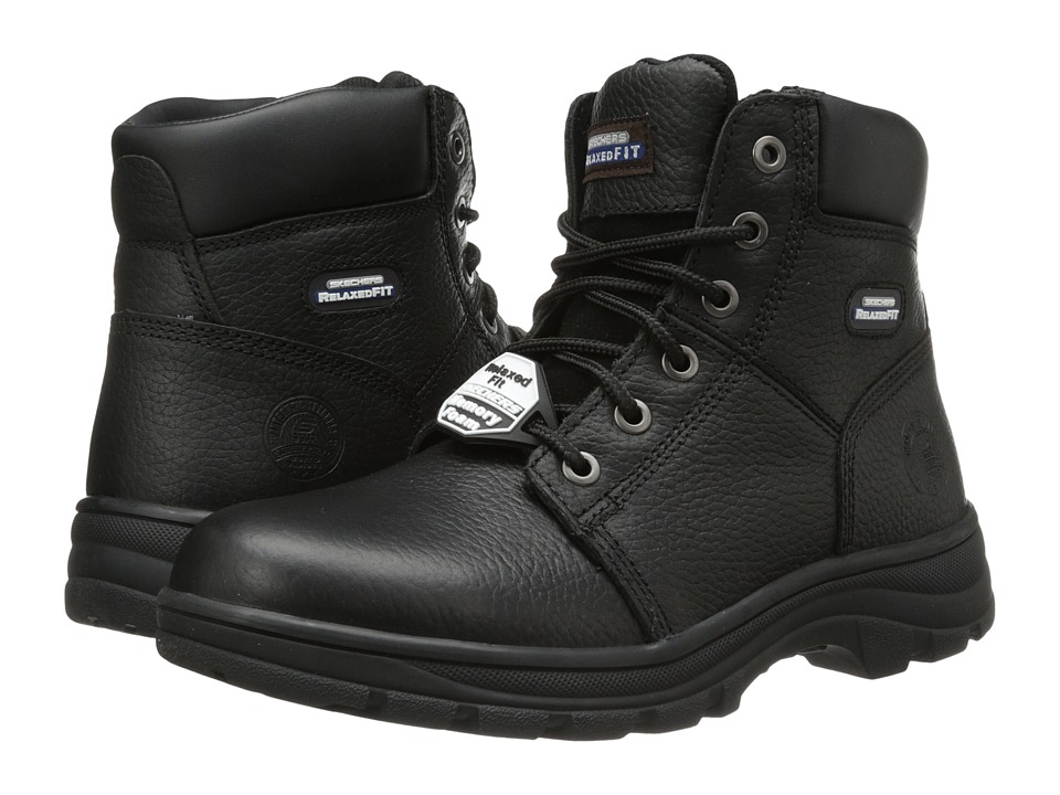 SKECHERS Work - Workshire - Condor (Black) Men's Lace-up Boots