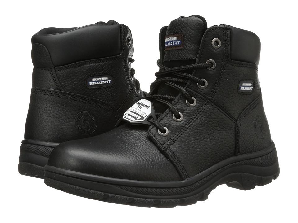 SKECHERS Work - Workshire - Condor (Black) Men's Lace-up Boots