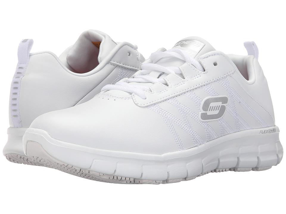 SKECHERS Work - Sure Track - Erath (White) Women's Work Boots