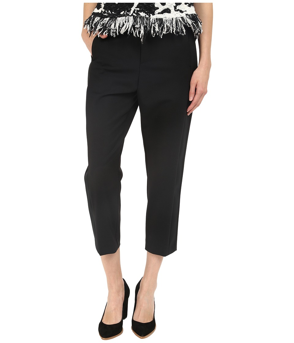 Neil Barrett - Slouch Oversize Tuxedo Trousers (Black) Women's Casual Pants
