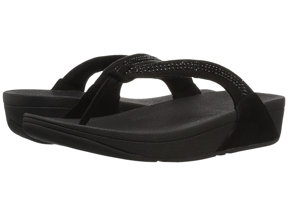FitFlop - Crystal Swirl (All Black) Women's Sandals