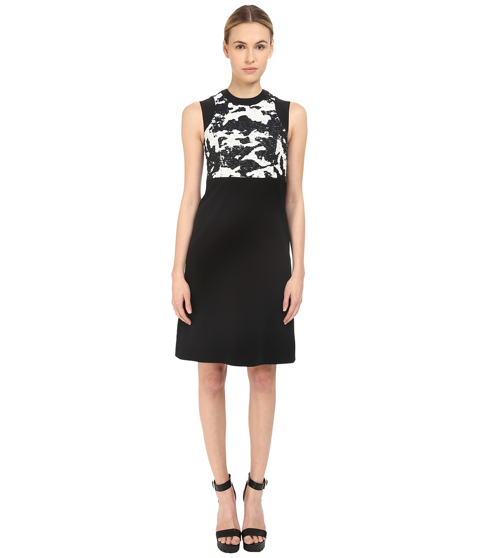 Neil Barrett - Mixed Fabrics Straight Dress (Black) Women's Dress