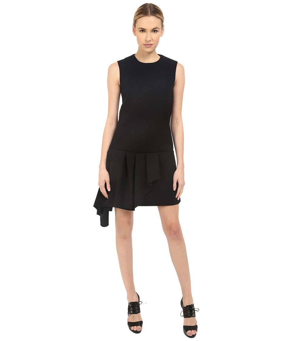 Neil Barrett - Asymmetric Volant Straight Dress (Black) Women's Dress