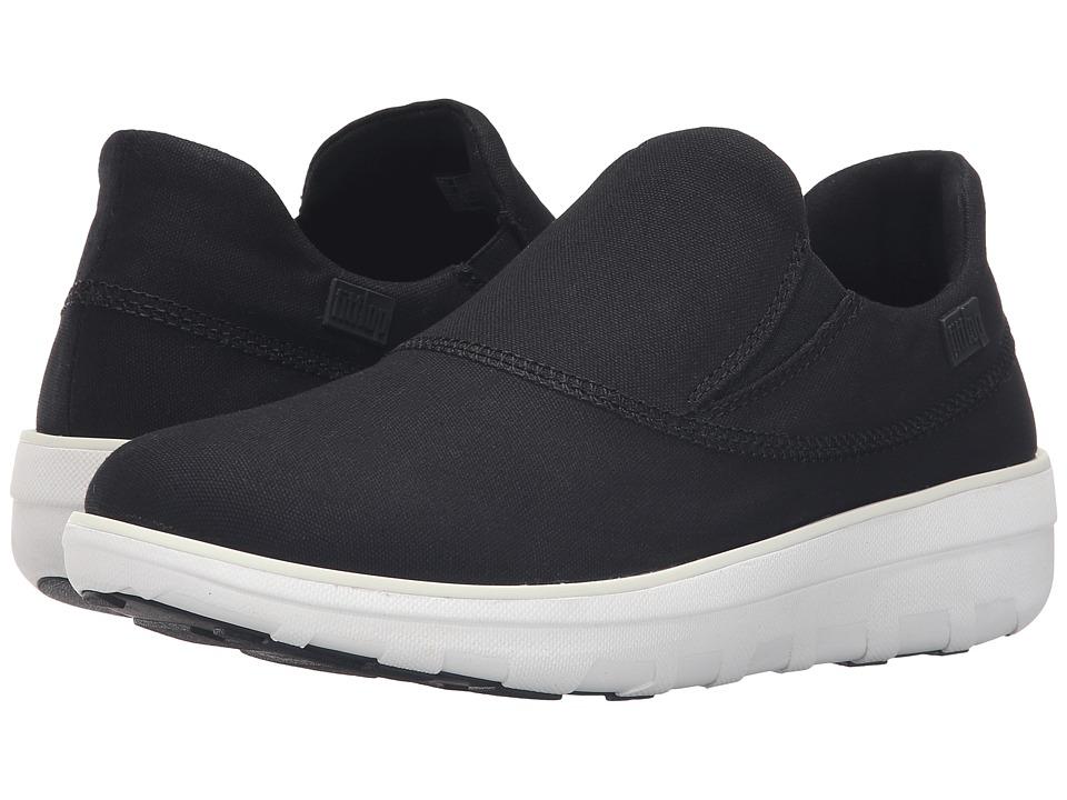 FitFlop - Loaff Sporty Slip-On (Black) Women's Shoes