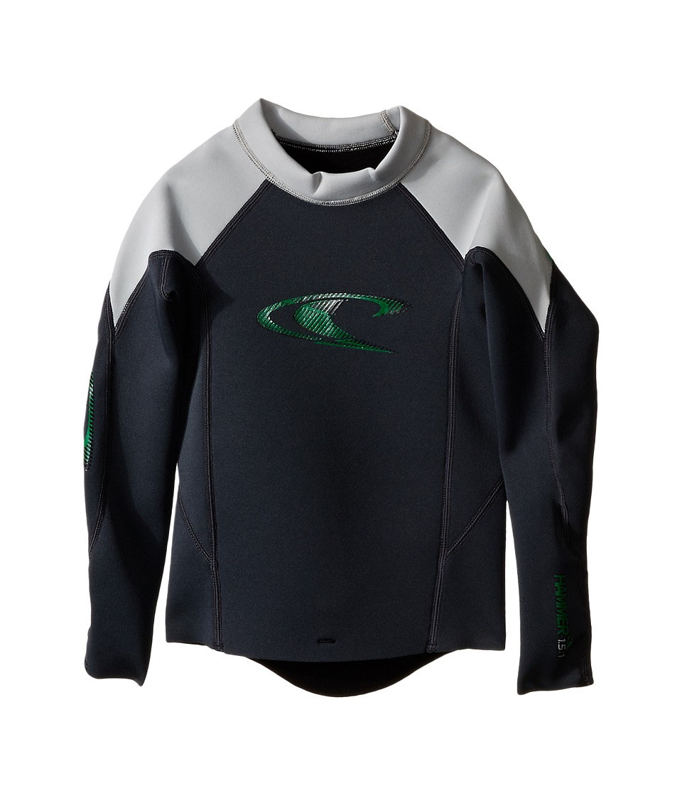 O'Neill Kids - Youth Hammer L/S Crew (Little Kids/Big Kids) (Graphite/Lunar/Clean Green) Boy's Swimwear