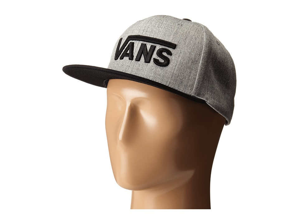 Vans - Drop V Snapback Hat (Heather Grey/Black) Caps
