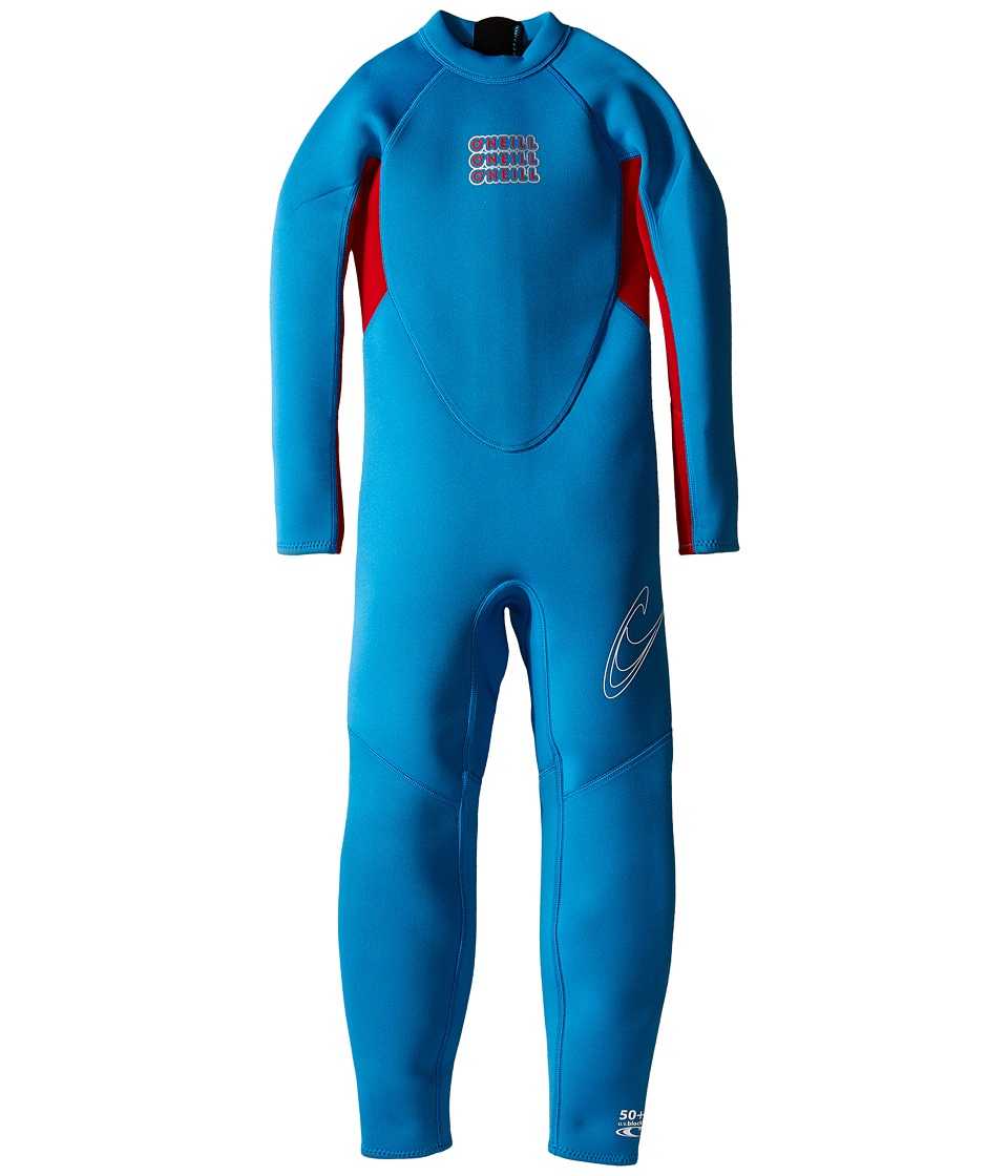 O'Neill Kids - Reactor Full (Infant/Toddler/Little Kids) (Brite Blue/Red) Boy's Wetsuits One Piece