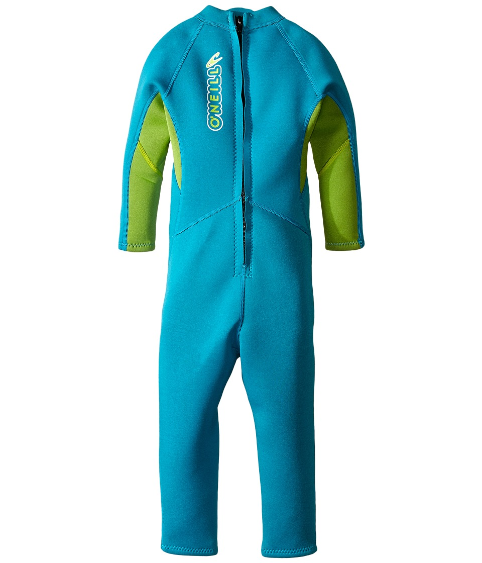 O'Neill Kids - Reactor Full (Infant/Toddler/Little Kids) (Turquoise/Lime) Boy's Wetsuits One Piece