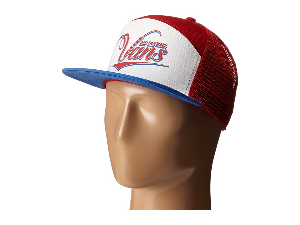 Vans - Suds 6 Panel Trucker (Racing Red/White/Victoria) Caps