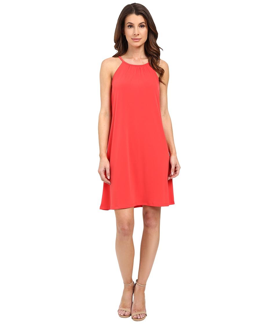 MICHAEL Michael Kors - Solid Matte Jersey Halter Dress (Coral Reef) Women's Dress