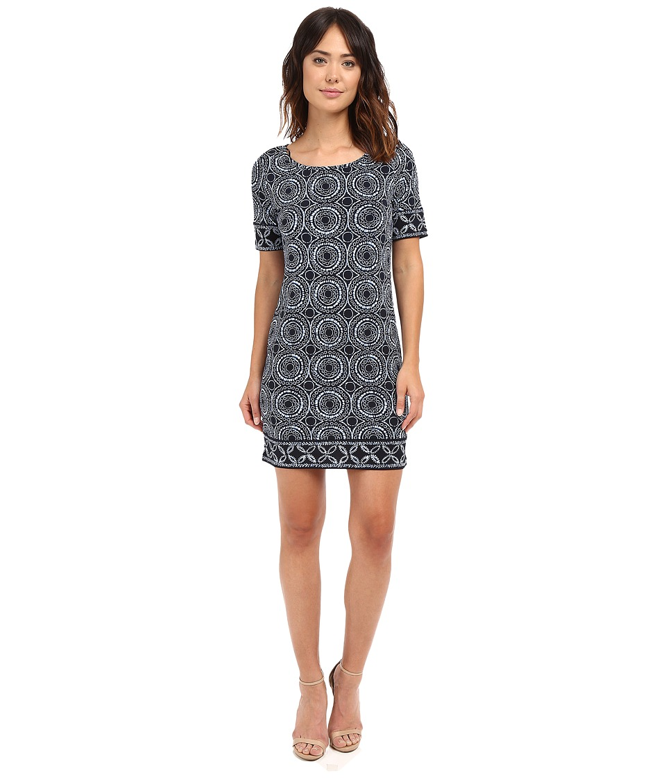 MICHAEL Michael Kors - Miura Short Sleeve Border Dress (New Navy) Women's Dress