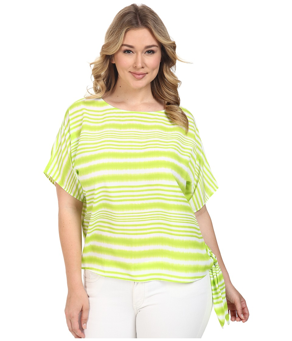 MICHAEL Michael Kors - Plus Size Boca Tie Top (Fresh Lime) Women's Clothing