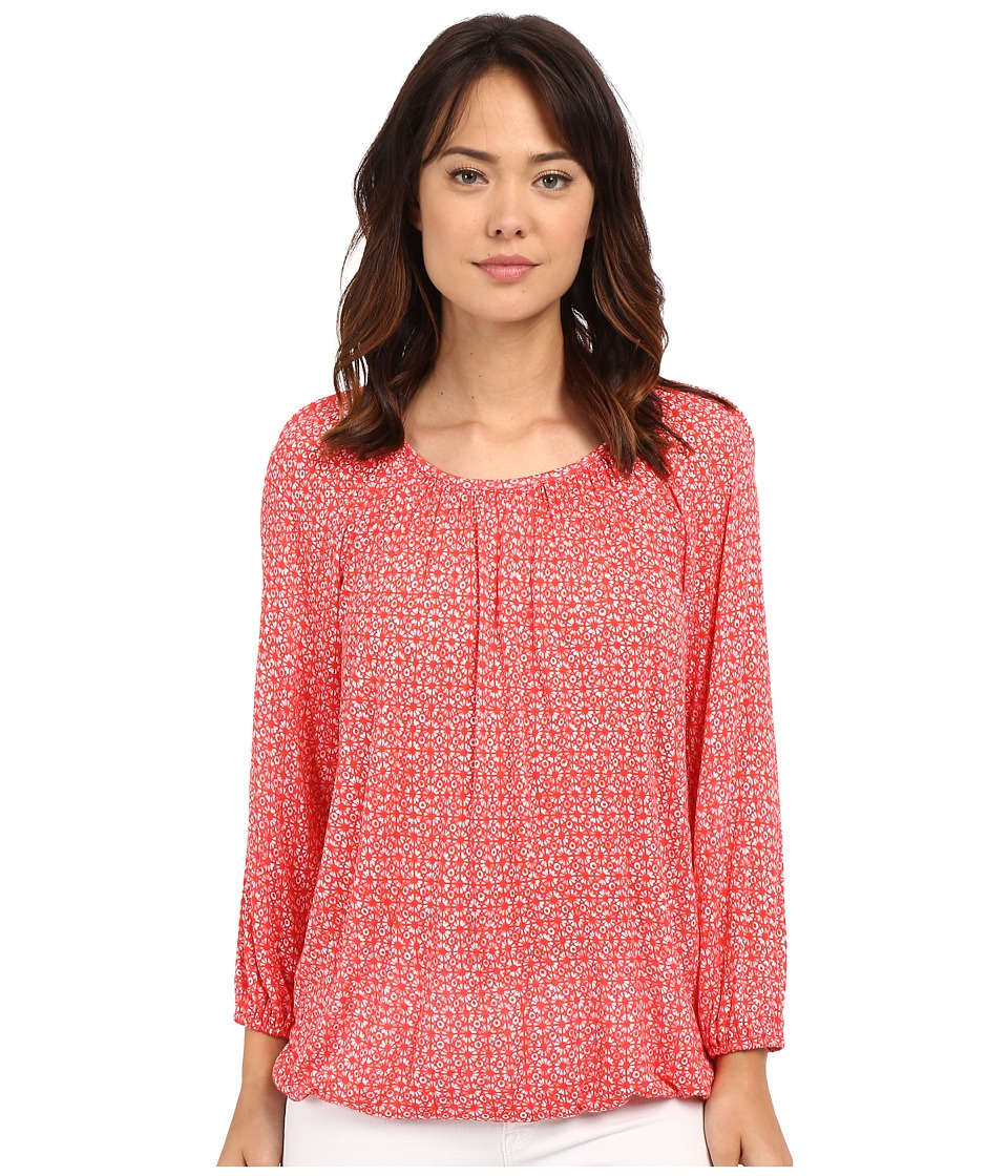 MICHAEL Michael Kors - Print Peasant Top (Coral Reef) Women's Clothing