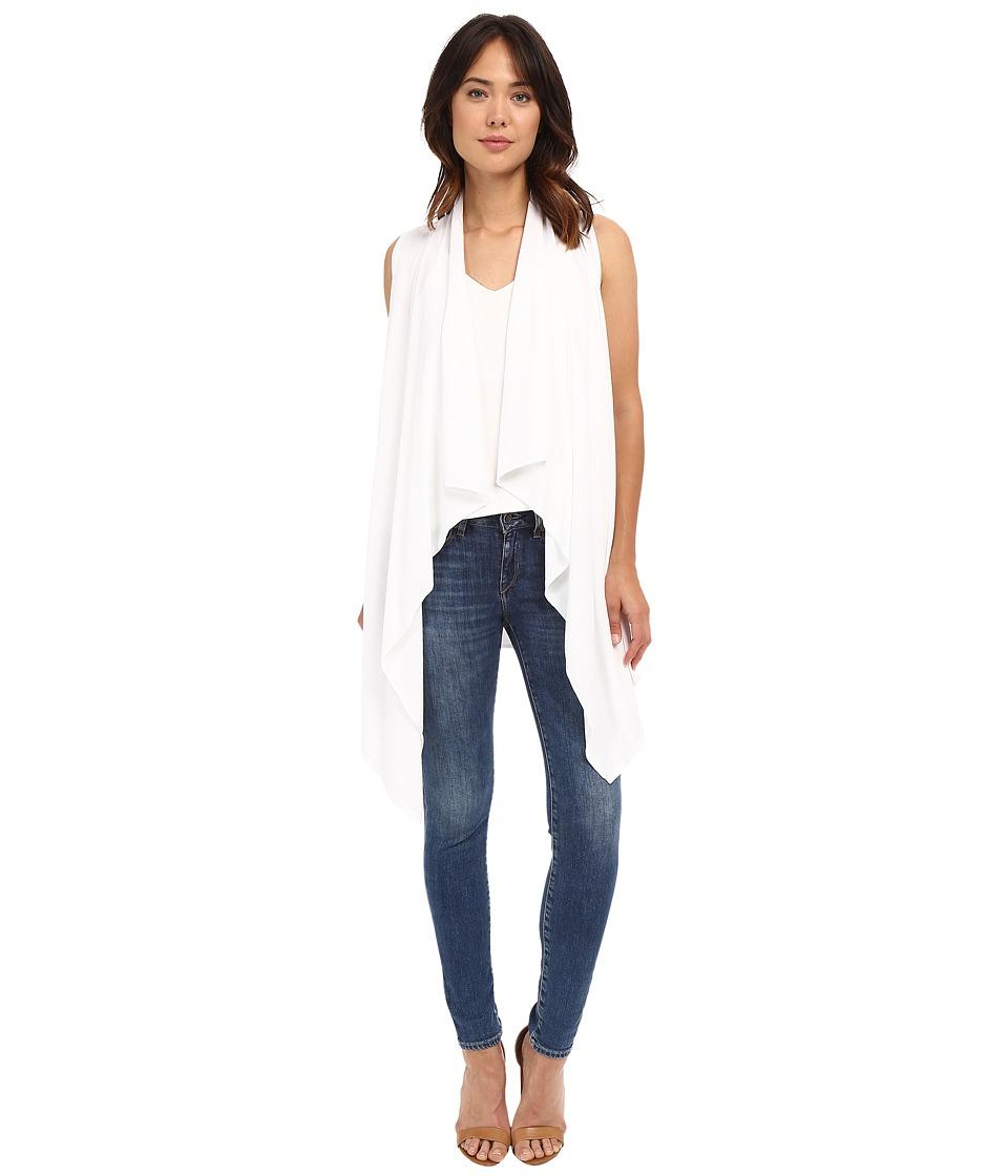 MICHAEL Michael Kors - Drape Front Vest (White) Women's Vest