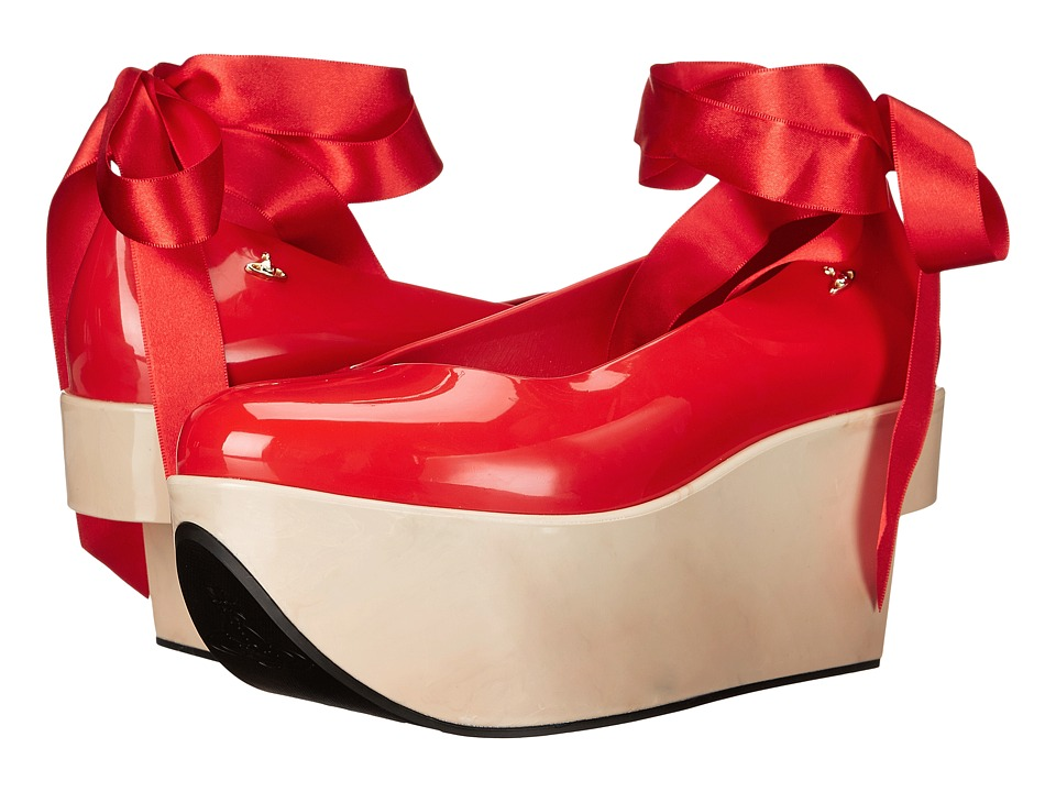 Vivienne Westwood - Anglomania + Melissa Rocking Horse (Red) Women's Shoes