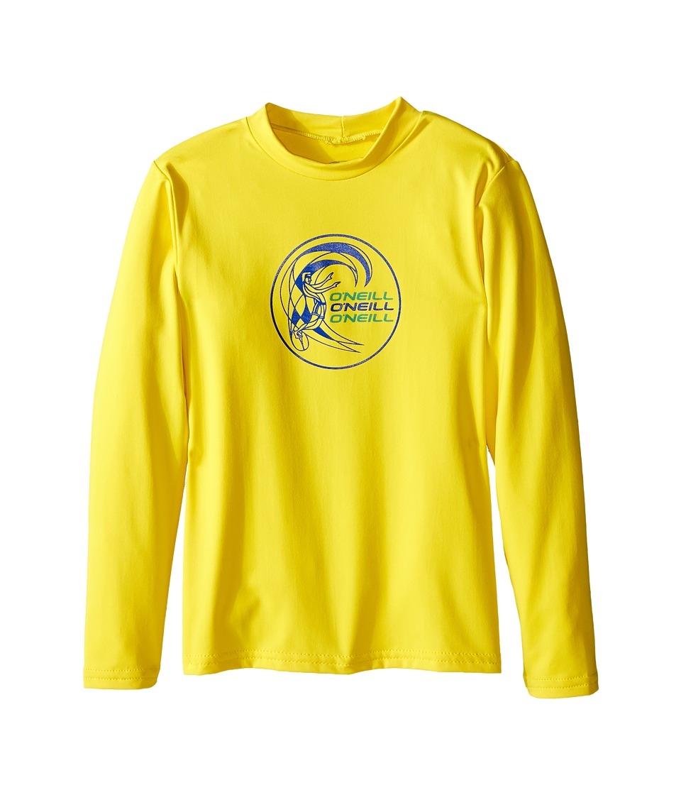 O'Neill Kids - Skins Long Sleeve Rash Tee (Infant/Toddler/Little Kids) (Yellow) Boy's Swimwear