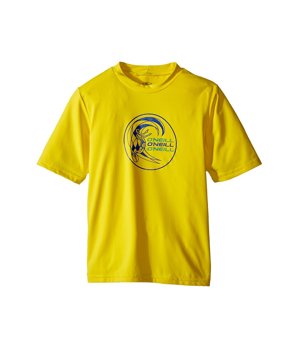O'Neill Kids - Skins Short Sleeve Rash Tee (Infant/Toddler/Little Kids) (Yellow) Boy's Swimwear