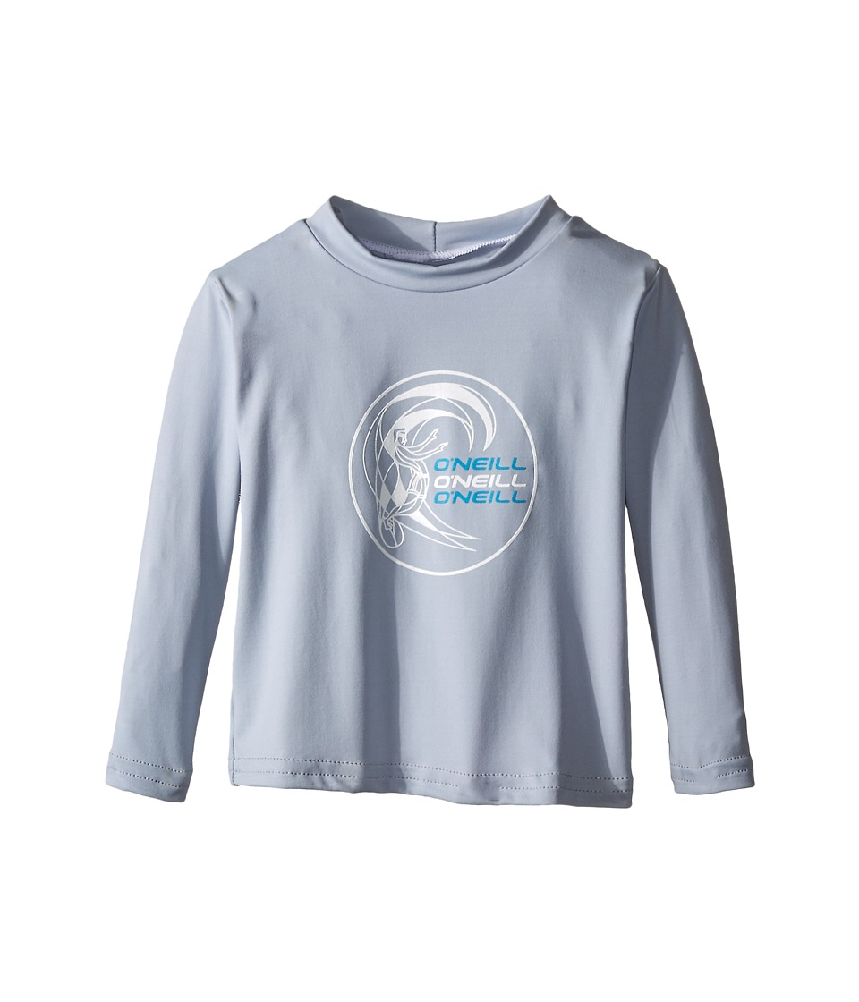 O'Neill Kids - Skins Long Sleeve Rash Tee (Infant/Toddler/Little Kids) (Fog Blue) Boy's Swimwear
