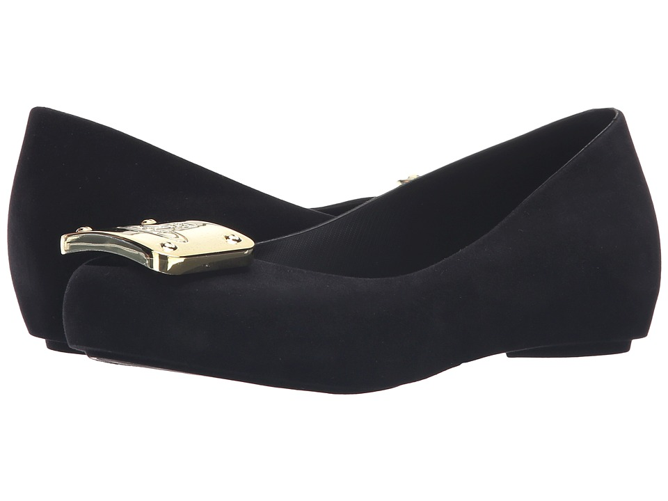 Vivienne Westwood Anglomania + Melissa Ultra Girl (Black/Flocked) Women
