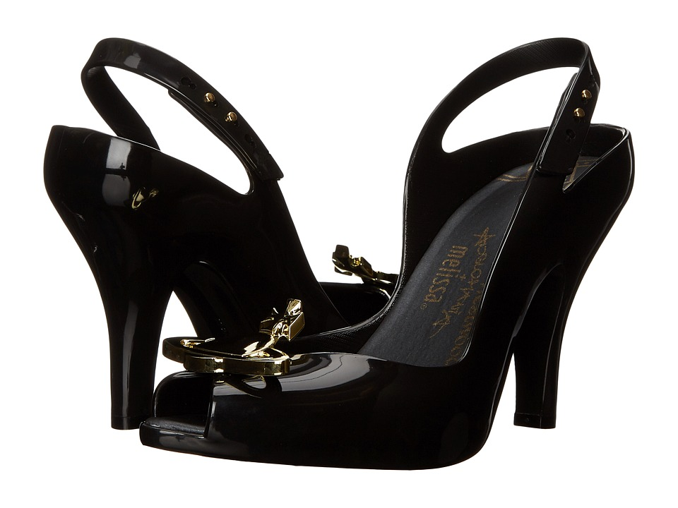 Vivienne Westwood - Anglomania + Melissa Lady Dragon (Black) Women's Shoes
