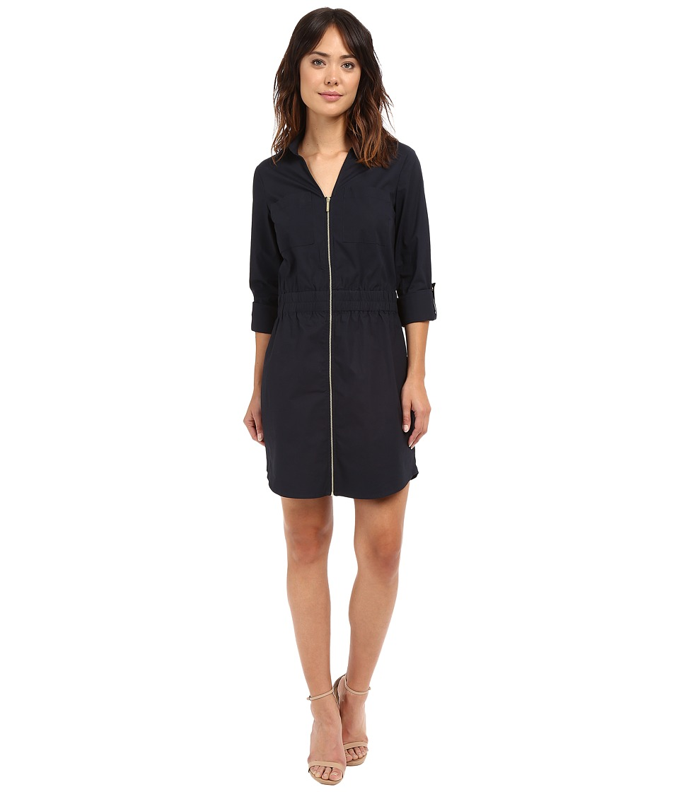 MICHAEL Michael Kors - Zip Dring Dress (New Navy) Women's Dress