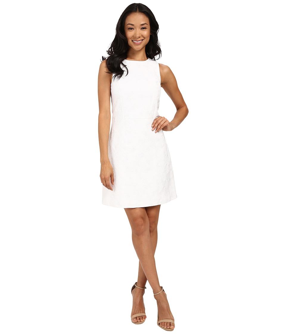MICHAEL Michael Kors - Jacquard Front Wrap Dress (White) Women