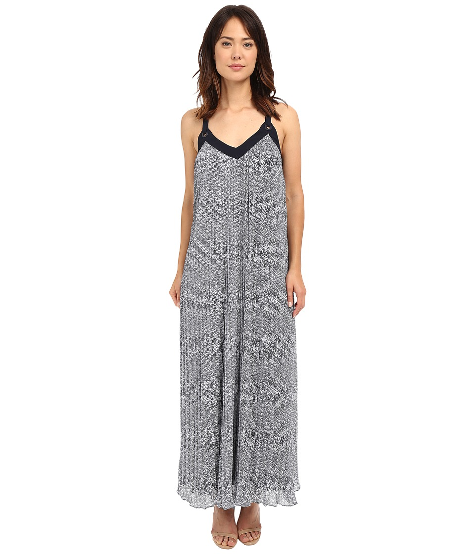 MICHAEL Michael Kors - Estrada Pleated Dress (New Navy) Women's Dress