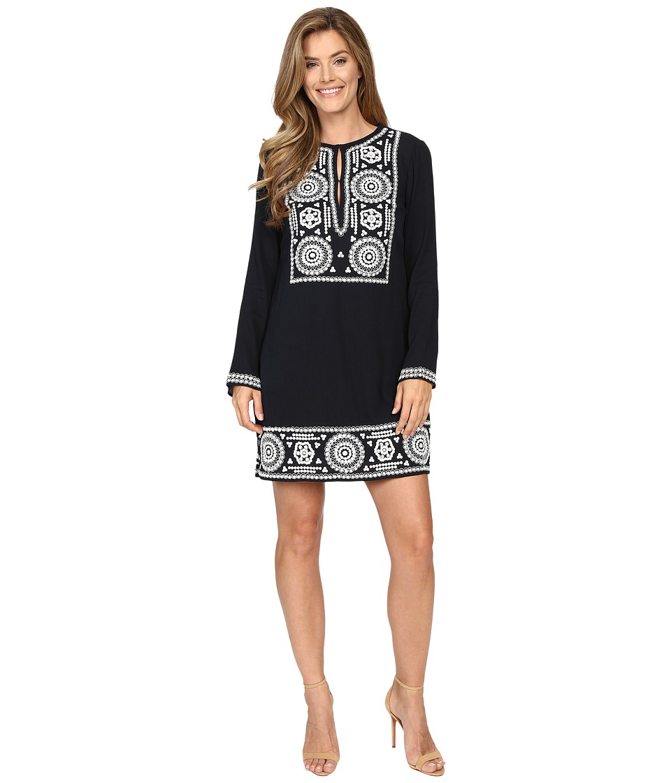 MICHAEL Michael Kors - Embellished Tunic Dress (New Navy) Women's Dress