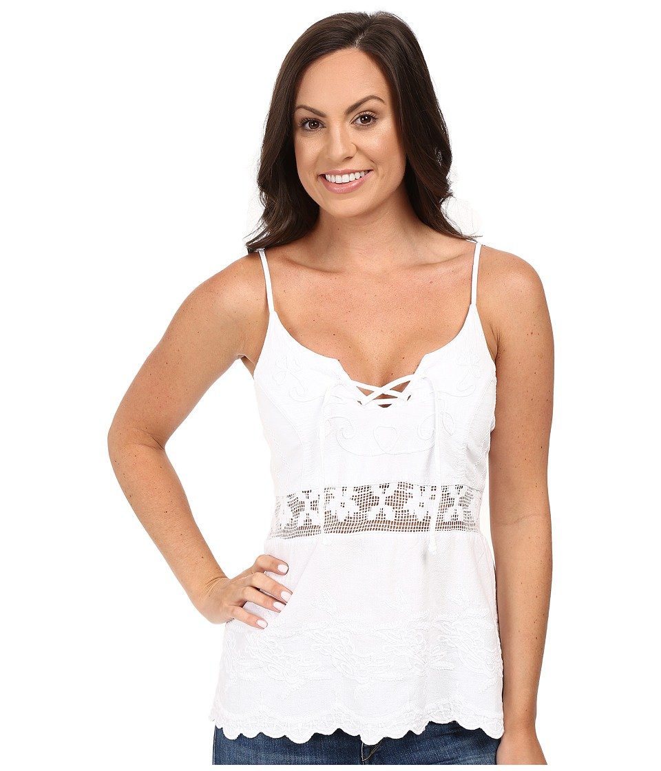 Scully - Flirty Girl Summer Top (White) Women's Clothing