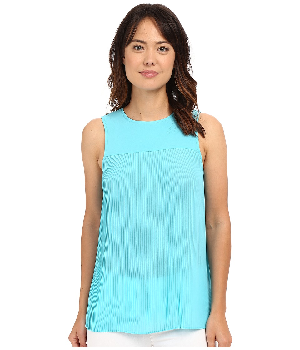 MICHAEL Michael Kors - Solid Pleated Top (Coral Reef) Women's Clothing
